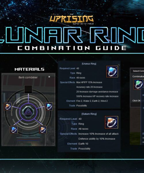 Lunar Ring Combination Guide